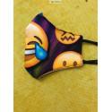 Mascarilla de diseño de tela para vestir estampado alegre