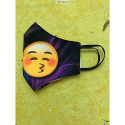 Mascarilla con dibujos de diseño de tela para vestir estampado alegre