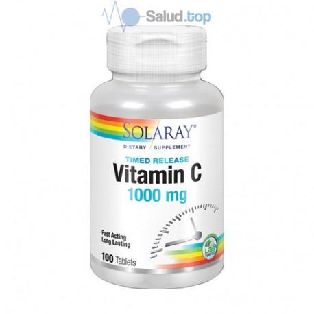 Vitamina C 1000Mg 100 comprimidos Solaray